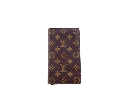 Preload https://img-static.tradesy.com/item/26206986/louis-vuitton-brown-rare-vintage-monogram-canvas-leather-oversized-long-travel-wallet-0-0-540-540.jpg