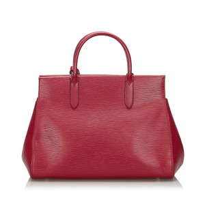 Louis Vuitton 9ilvst009 Vintage Leather Satchel in Red