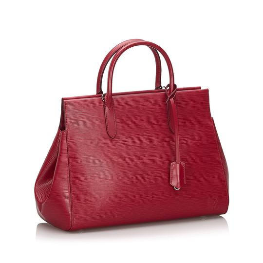 Louis Vuitton 9ilvst009 Vintage Leather Satchel in Red Image 11