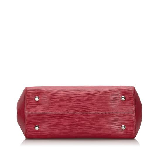 Louis Vuitton 9ilvst009 Vintage Leather Satchel in Red Image 2
