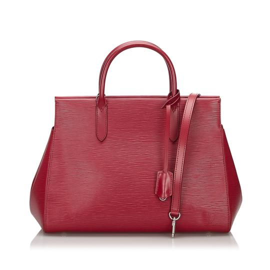 Louis Vuitton 9ilvst009 Vintage Leather Satchel in Red Image 9