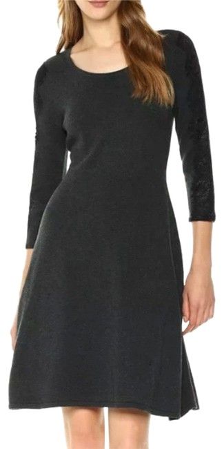 Preload https://img-static.tradesy.com/item/26207010/nine-west-charcoal-gray-lace-sleeve-sweater-mid-length-workoffice-dress-size-4-s-0-1-650-650.jpg