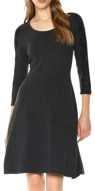 Preload https://img-static.tradesy.com/item/26207017/nine-west-charcoal-gray-lace-sleeve-sweater-mid-length-night-out-dress-size-12-l-0-1-650-650.jpg