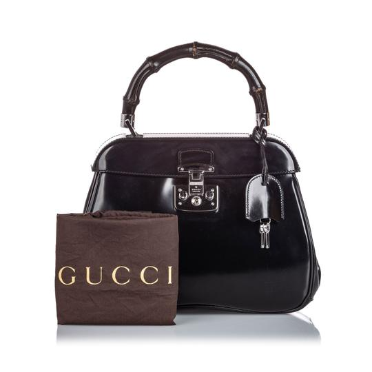 Gucci Ff9guhb010 Vintage Leather Shoulder Bag Image 11
