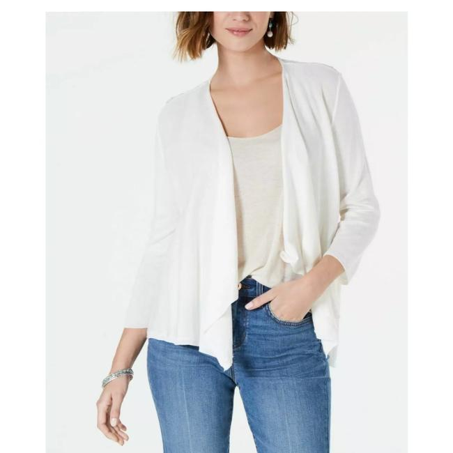 Preload https://img-static.tradesy.com/item/26207058/style-and-co-white-lace-back-cardigan-size-12-l-0-0-650-650.jpg