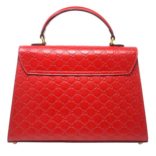 Gucci Monogram Gg Padlock Tote in Red Image 2