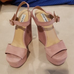 Steve Madden Light pink suede wedges with ankle strap Wedges