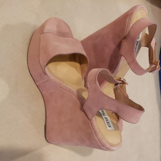 Steve Madden Light pink suede wedges with ankle strap Wedges Image 1