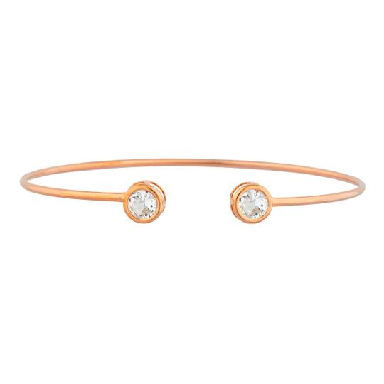 Preload https://img-static.tradesy.com/item/26207087/14kt-rose-gold-zirconia-round-bezel-bangle-bracelet-0-0-540-540.jpg