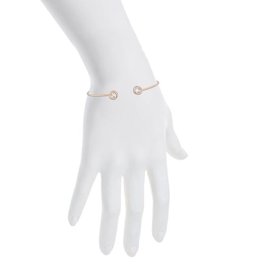 Other 14Kt Rose Gold Zirconia Round Bezel Bangle Bracelet Image 2