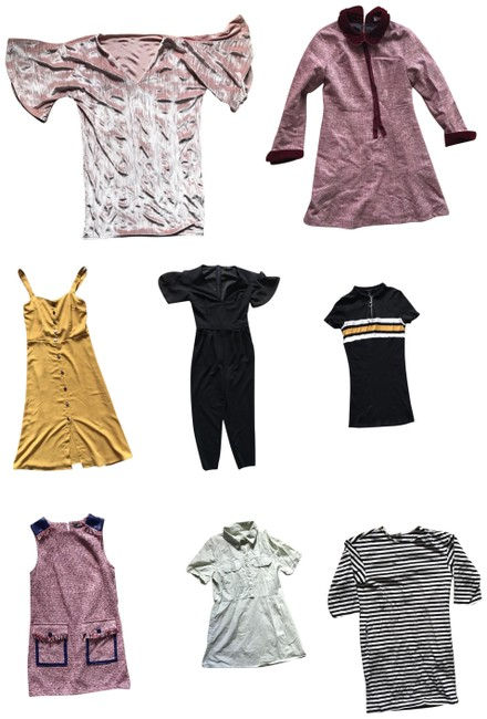 Preload https://img-static.tradesy.com/item/26207091/shein-multicolor-8-pieces-bundle-free-gift-short-casual-dress-size-4-s-0-1-650-650.jpg