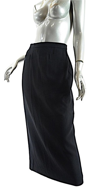 Preload https://img-static.tradesy.com/item/26207113/sonia-rykiel-black-wool-crepe-long-straight-pockets-skirt-size-4-s-27-0-1-650-650.jpg
