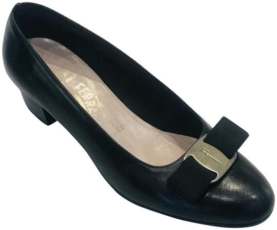 Preload https://img-static.tradesy.com/item/26207155/salvatore-ferragamo-black-varina-round-toe-ballet-flats-pumps-size-us-5-wide-c-d-0-2-540-540.jpg
