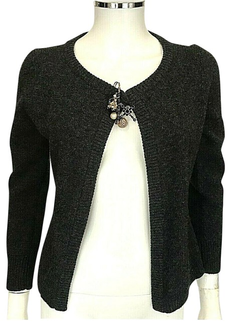 Preload https://img-static.tradesy.com/item/26207292/dolce-and-gabbana-gray-safety-pin-brooch-sweater-alpaca-wool-blend-642-cardigan-size-6-s-0-1-650-650.jpg