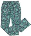 Lucky Brand Ikat Print Drawstring Lounge Relaxed Pants Blue/Green/White Image 0