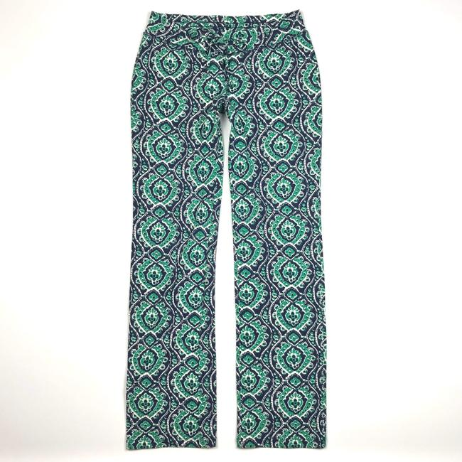 Lucky Brand Ikat Print Drawstring Lounge Relaxed Pants Blue/Green/White Image 1