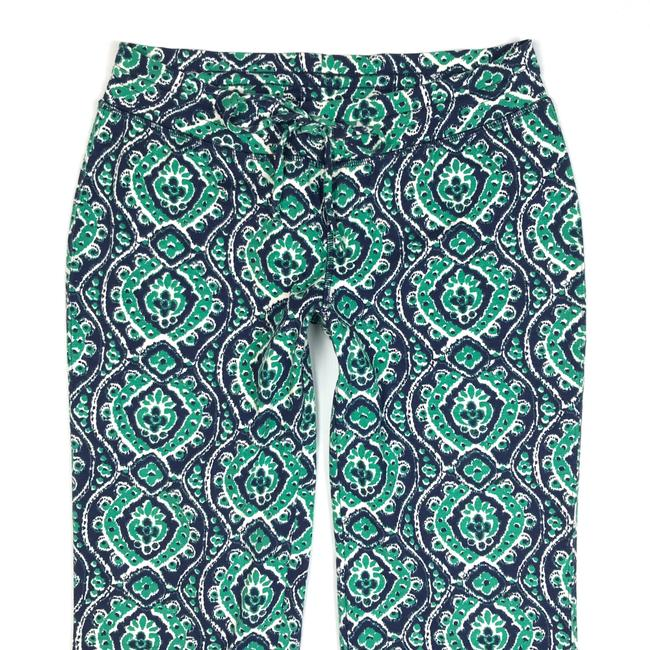 Lucky Brand Ikat Print Drawstring Lounge Relaxed Pants Blue/Green/White Image 2
