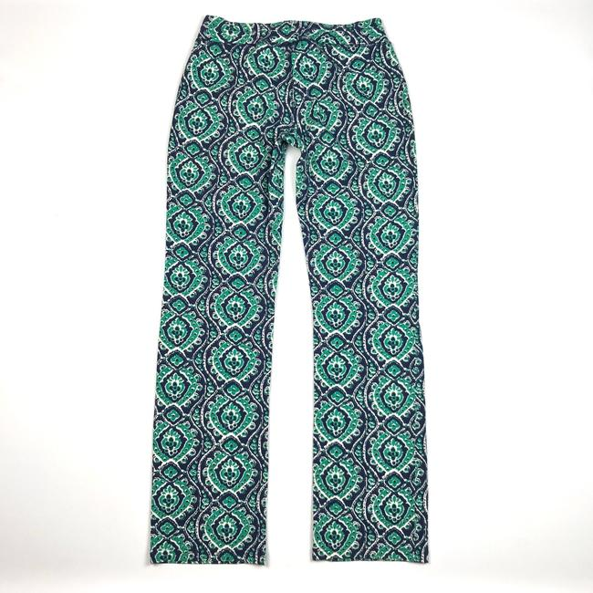 Lucky Brand Ikat Print Drawstring Lounge Relaxed Pants Blue/Green/White Image 5