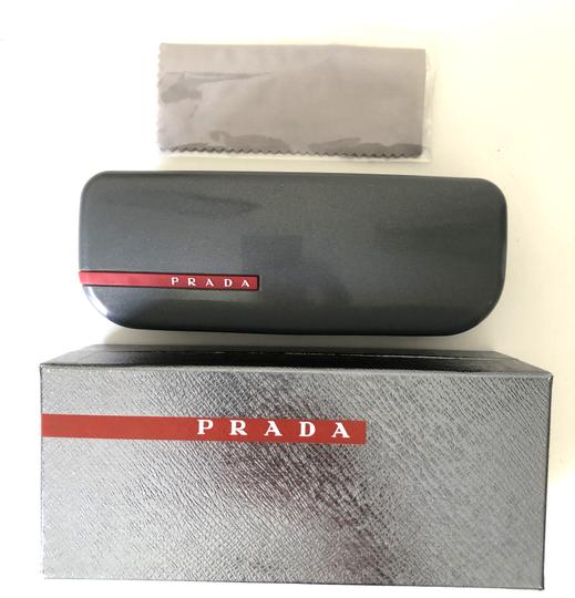 Prada Brand New hexagonal with case SPS 56S 1BK1I0 Free 3 Day Shipping Image 3