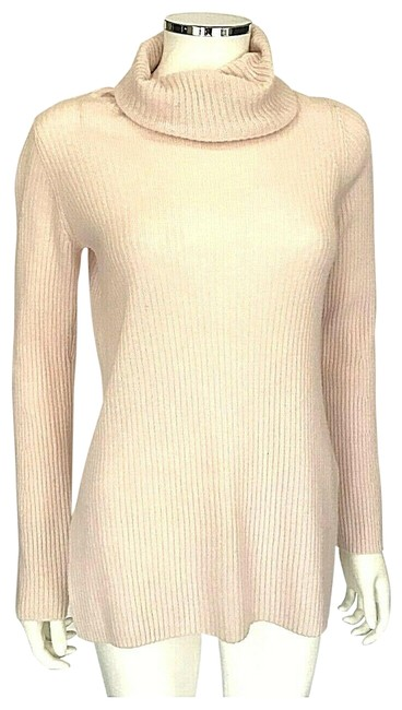 Item - Cashmere Wool Turtleneck Knit Long Sleeve Size Small Pink Sweater