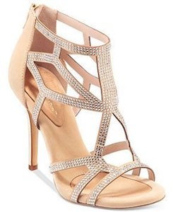 BCBGeneration Studded Glitter Warm Sand and gold Sandals