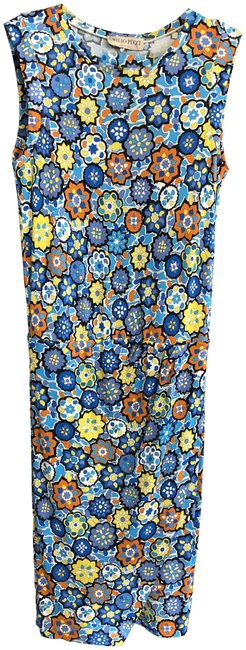 Emilio Pucci short dress Multi Color Italy Stretchy Sleeveless Style#61rg47 Floral on Tradesy Image 0