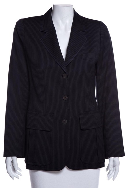 Preload https://img-static.tradesy.com/item/26207483/saint-laurent-navy-yves-pinstripe-jacket-blazer-size-6-s-0-1-650-650.jpg