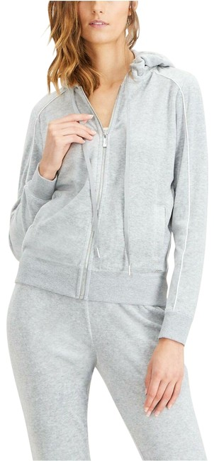 Preload https://img-static.tradesy.com/item/26207492/calvin-klein-hoodie-piped-cardigan-m-new-225-gray-sweater-0-1-650-650.jpg