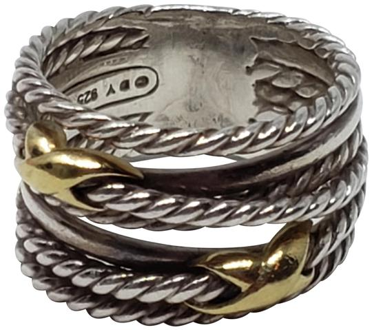 Preload https://img-static.tradesy.com/item/26207497/david-yurman-silver-sterling-18k-yellow-gold-double-x-ring-0-3-540-540.jpg