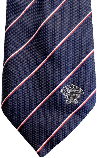 Preload https://img-static.tradesy.com/item/26207523/versace-collection-blue-and-red-two-tone-fine-stripe-silk-tie-0-1-540-540.jpg