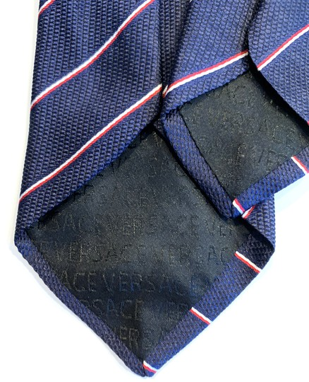 Versace Collection Versace Collection Two-Tone Fine Stripe Silk Tie Image 1