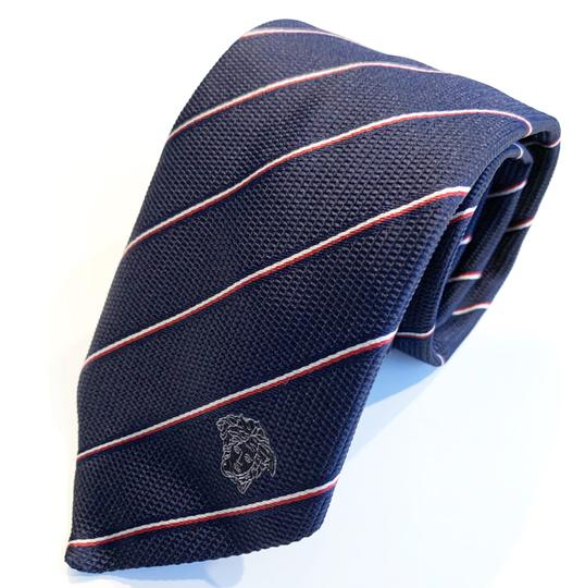 Versace Collection Versace Collection Two-Tone Fine Stripe Silk Tie Image 2