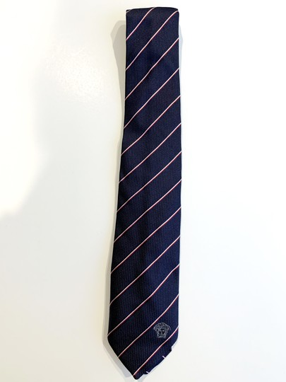 Versace Collection Versace Collection Two-Tone Fine Stripe Silk Tie Image 3