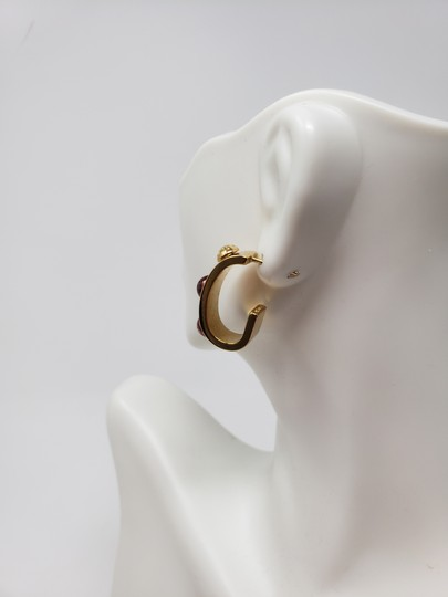 Louis Vuitton Gold-tone Louis Vuitton Gimme A Clue Lv logo hoop earrings Image 6