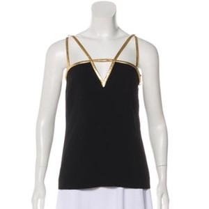 Prada Top Black, Gold