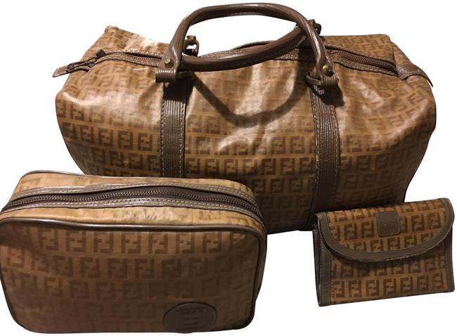 Item - Boston Brown Pvc Weekend/Travel Bag