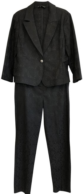 Item - Black Label Jacquard Jacket & Set Pant Suit Size 14 (L)