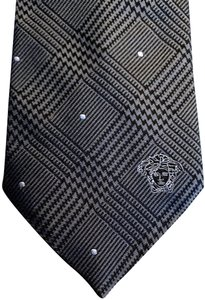 Versace Collection Versace Collection Plaid Silk Tie