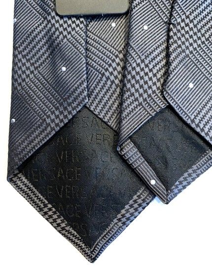 Versace Collection Versace Collection Plaid Silk Tie Image 1