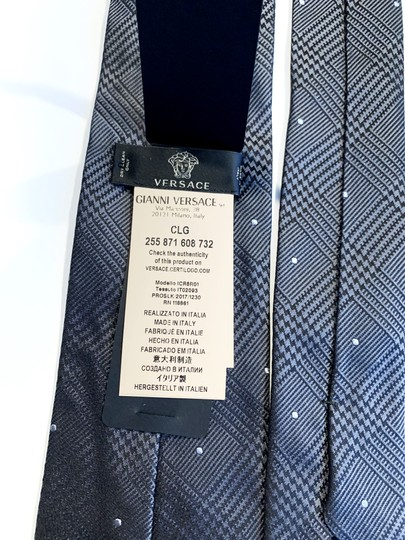Versace Collection Versace Collection Plaid Silk Tie Image 5