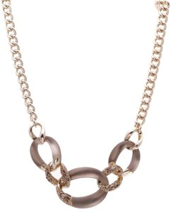 Alexis Bittar Alexis Bittar Lucite Large Link Necklace - Gold