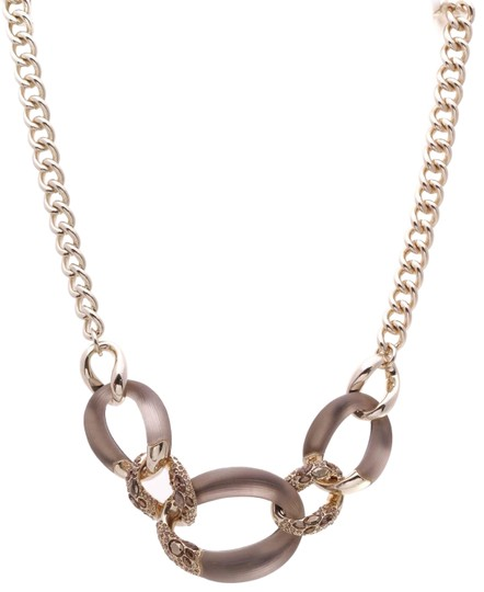 Preload https://img-static.tradesy.com/item/26207661/alexis-bittar-gold-lucite-large-link-necklace-0-1-540-540.jpg