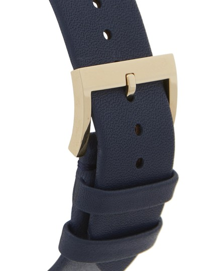 Tory Burch CLASSIC T WATCH, NAVY LEATHER/GOLD-TONE TBW9001 Image 1