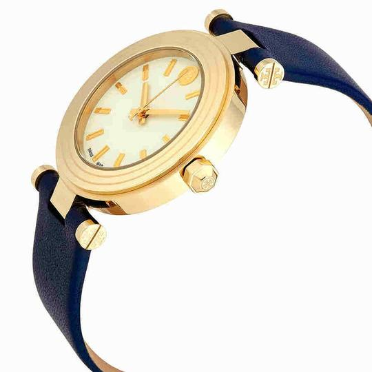 Tory Burch CLASSIC T WATCH, NAVY LEATHER/GOLD-TONE TBW9001 Image 2