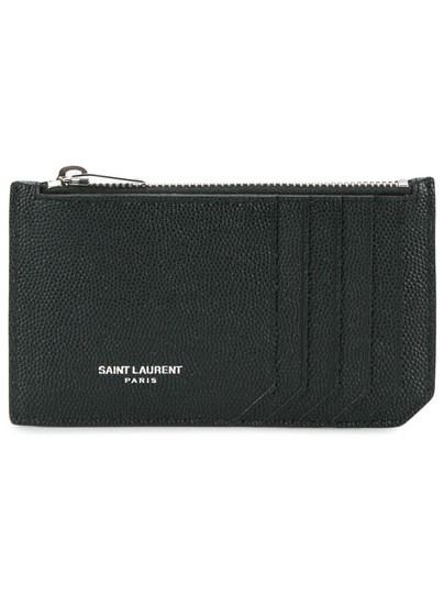 Preload https://img-static.tradesy.com/item/26207670/saint-laurent-black-grained-leather-zippy-card-case-wallet-0-0-540-540.jpg