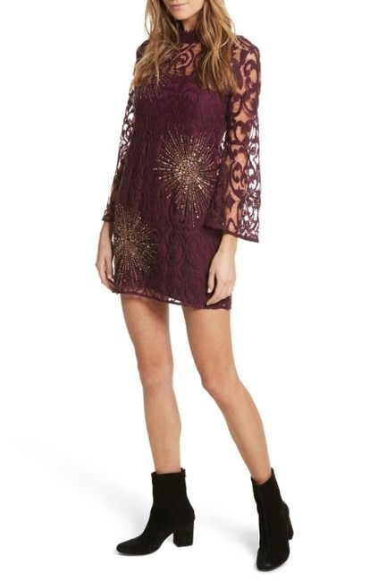 Item - Plum North Star Mini Short Night Out Dress Size 6 (S)