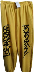 ADAPTATION Relaxed Pants Yellow black