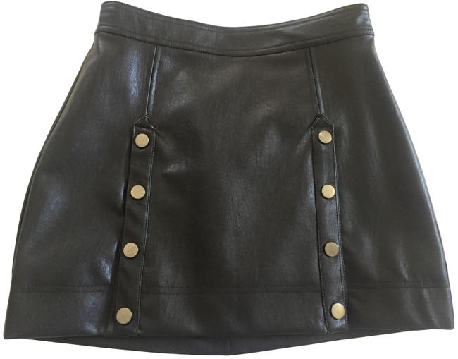 Item - Black Faux-leather Skirt Size 2 (XS, 26)