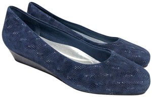 Trotters blue Wedges