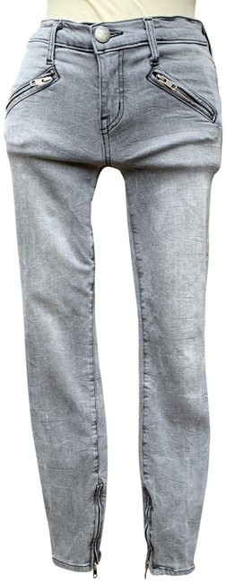 Item - Grey Light Wash The Silverlake Zip Dazzler Skinny Jeans Size 25 (2, XS)